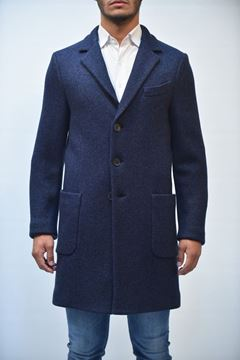 Picture of COAT MAN SEVENTY CP0190 150174 BLU