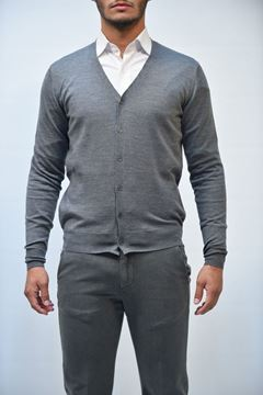 Picture of CARDIGAN BECOME MAN 542390 GRIGIO