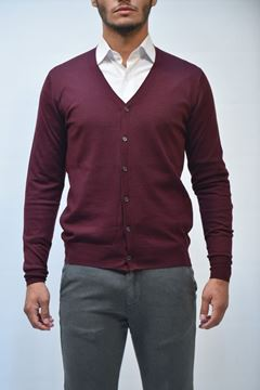 Picture of CARDIGAN BECOME MAN 542390 BORDEAUX