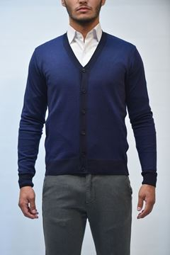 Picture of CARDIGAN BECOME MAN 547272 BLU