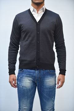 Picture of CARDIGAN BECOME MAN 547272 GRIGIO
