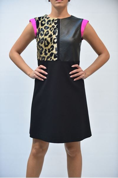 Picture of DRESS ONE T00001 0101A NERO MACULATO