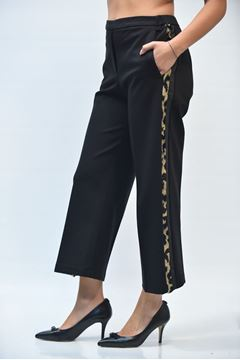 Picture of PANTS WOMAN ONE T0006 0101B NERO MACULATO