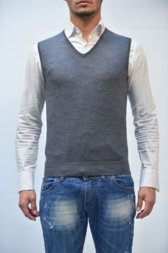 Picture of GILET BECOME MAN 522107A 2/09 GRIGIO