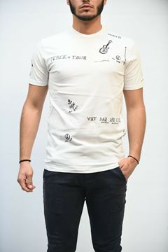 Picture of T-SHIRT MAN DANIELE ALESSANDRINI M9086 BIANCO