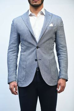Picture of JACKET JERRY KEY MAN 91201 2160 BIANCO BLU