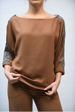 Picture of SHIRT WOMAN ACCESS FASHION 2079-137 CAMMELLO