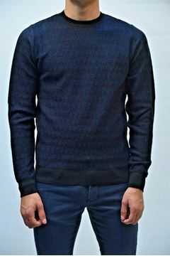 Picture of JERSEY BECOME MAN 517229 BLU NERO
