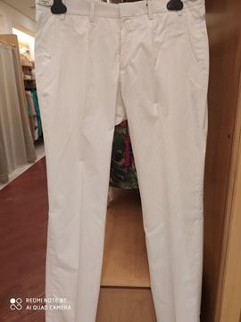 Picture of PANTS GAZZARINI MAN 110100 1840 WHITE