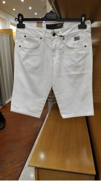 Picture of JEANS ROY ROGER'S BERMUDA DONNA DILY DRILL BIANCO