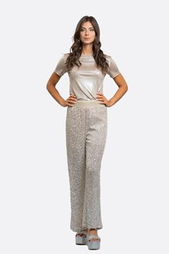 Picture of PANTALONE  NO SECRETS DONNA  ART. 211NS038 PAILLETTES  ORO