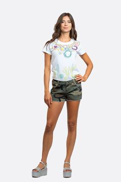 Picture of T-SHIRT DONNA NO SECRETS BIANCA CON STAMPA ART. 211NS036